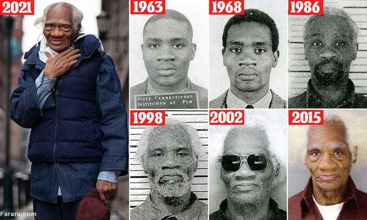 عکس/ حبس یک آمریکایی در ۱۵ سالگی؛ آزادی در ۸۳ سالگی!