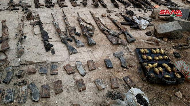 کشف سلاح و مهمات توسط نیروهای امنیتی سوریه