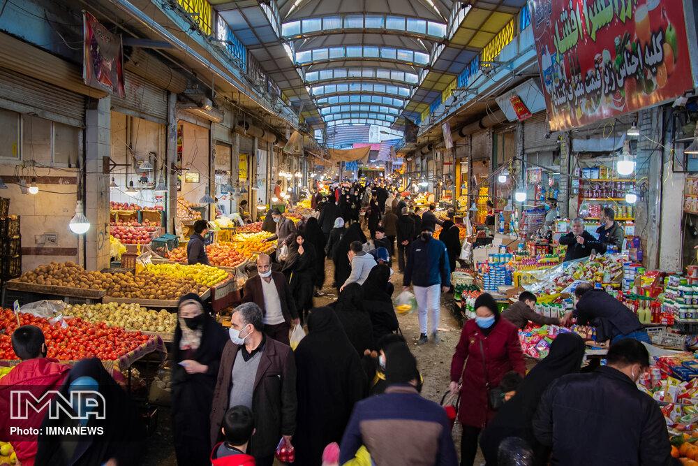 عکس/ شلوغی بازار همدان در ایام کرونا