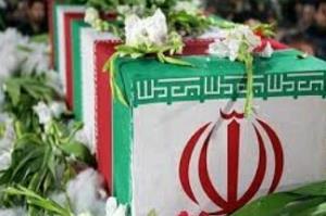 استقبال از پیکر مطهر شهید گمنام ۸ سال دفاع مقدس در ایرانشهر