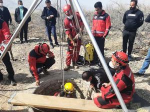 سقوط مرگبار جوان رونیزی در چاه ۹۰ متری
