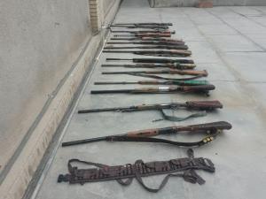 ۱۵ قبضه اسلحه شکاری در تالاب بینالمللی هامون کشف شد