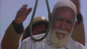 صحنه اعدام عمر مختار در فیلم شیر صحرا