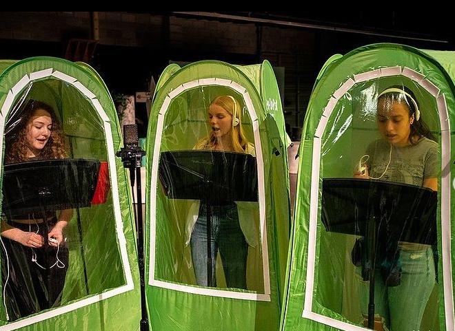 کلاس های موسیقی در واشنگتن به سبک رعایت حفاظت های کرونایی