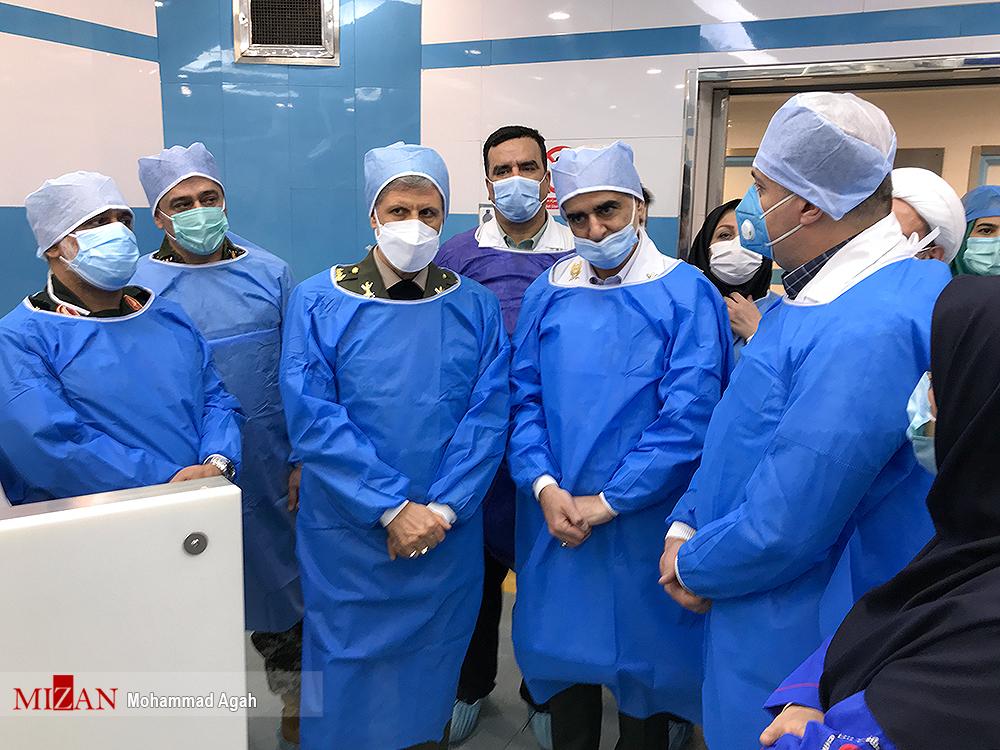 افتتاح مرکز درمانی ویژه بیماران کرونایی با حضور وزیر دفاع