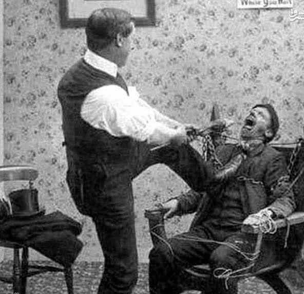 کشیدن وحشیانه دندان توسط آرایشگر!