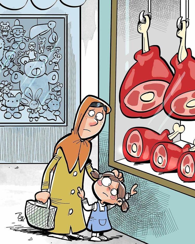 کاریکاتور/ افزایش قیمت گوشت با مردم چه کرد؟