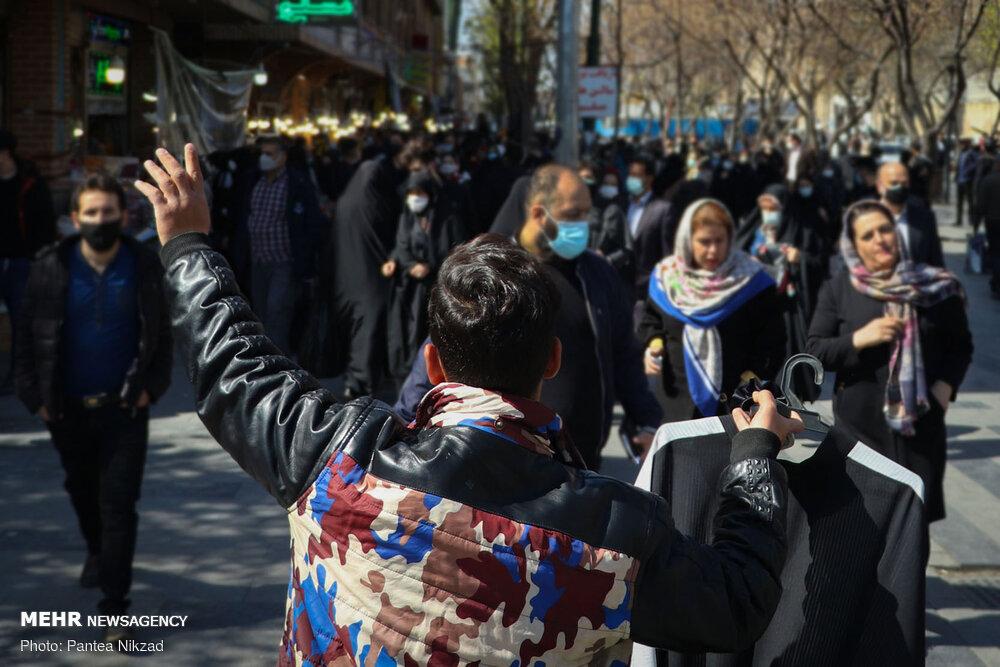 عکس/ کرونا در روزهای شلوغ بازار تهران