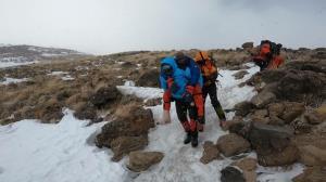 نجات کوهنورد تهرانی در ارتفاعات دماوند