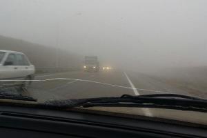 بی احتیاطی در رانندگی در هوای مه آلود