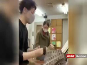 نواختن قطعه چهار مضراب استاد مشکاتیان توسط دو ژاپنی