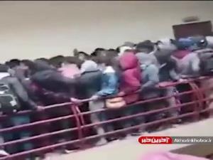 سقوط مرگبار دانشجویان از طبقه چهارم دانشگاه!