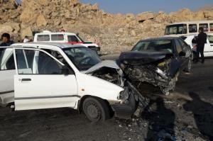 برخورد 2 خودروی پراید حادثه آفرید