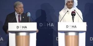 گفتگوی گوترش و وزیر خارجه قطر درباره احیای برجام