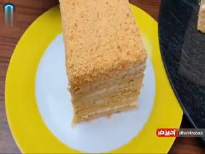 ص�ر تا صد تهیه کیک عسلی روسی