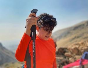چهره ها/ امیرمحمد متقیان در حال کوهنوردی