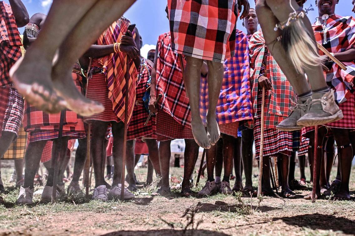 مراسم پرش سنتی قبیله کنیایی