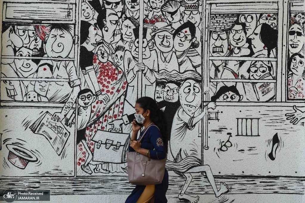 اوضاع متروی هند به روایت یک نقاشی دیواری