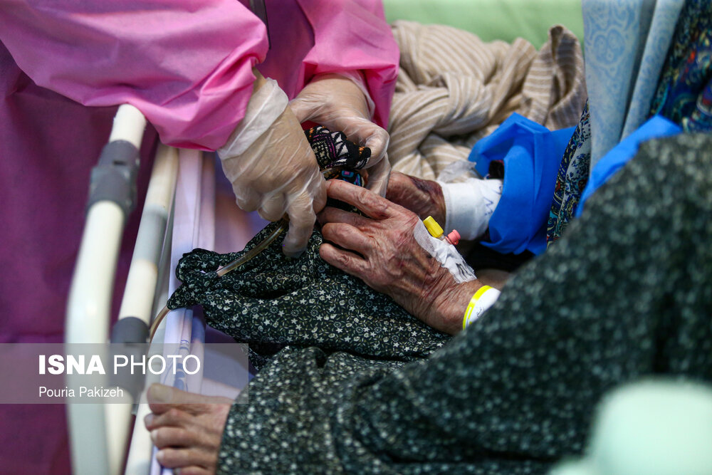 عکس/ وضعیت بخش کرونایی بیمارستان سینا در همدان