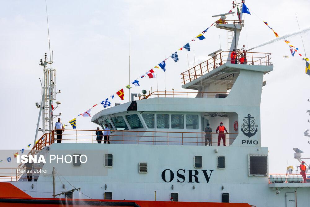 عکس/ به آب اندازی نخستین شناور چند منظوره نخستین در خلیج فارس