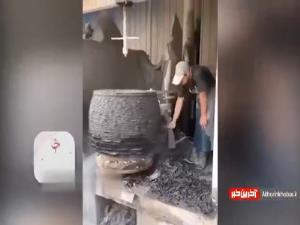 ساخت میز و صندلی جالب با استفاده از سنگ!