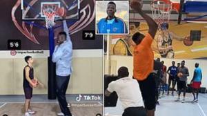 بلندقدترین بسکتبالیست نیجریه به سوژه رسانه ها تبدیل شد