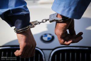 دستگیری سارق و کشف خودروی سرقتی در کنگان