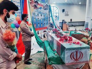وداع شهروندان ایرانشهری با شهید گمنام