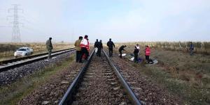 مرگ تلخ یک جوان در اثر برخورد با قطار