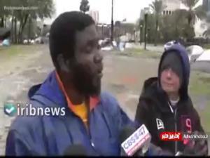 وضعیت نابسامان بی خانمانها در فلوریدا آمریکا