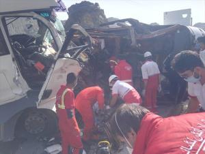 تصاویر تصادف امروز جاده کهنوج