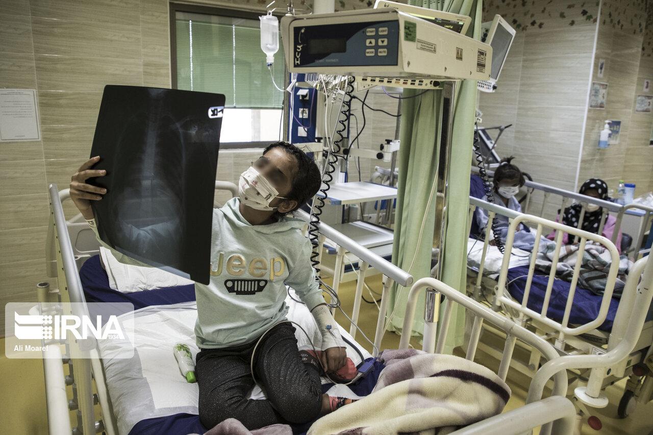 ریه های کرونایی کودک در بیمارستان