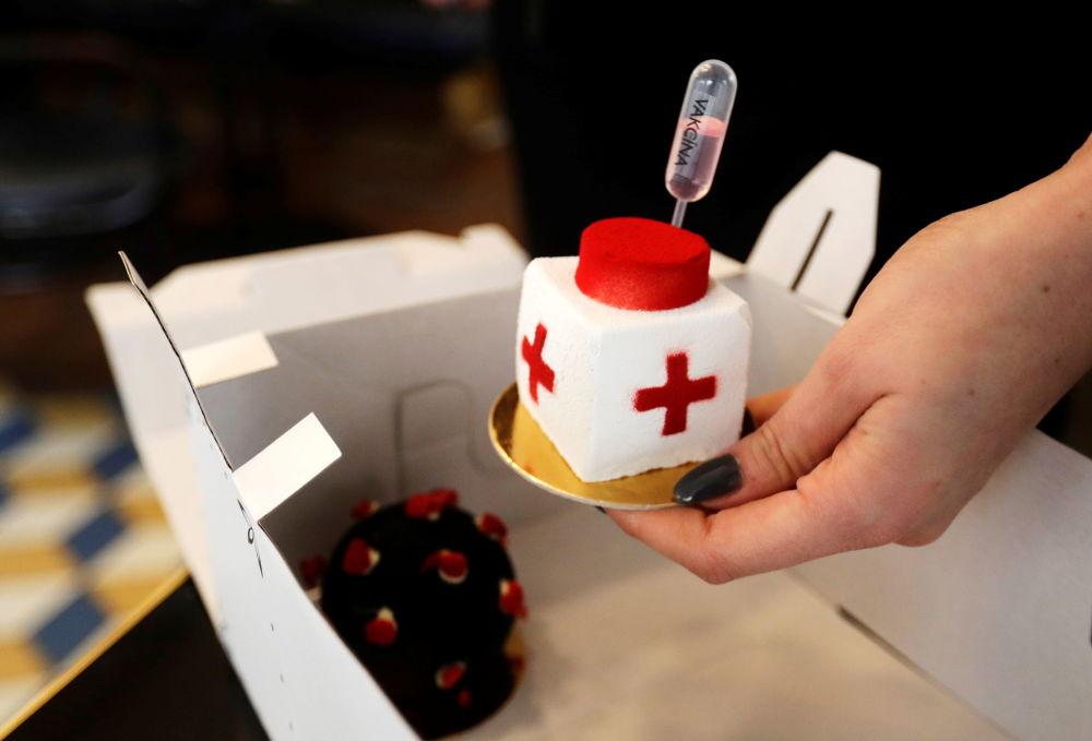 تصاویری جالب از شیرینی های واکسنی
