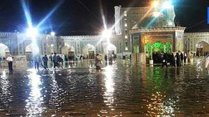 آسمان بارانی حرم مطهر امام رضا (ع)