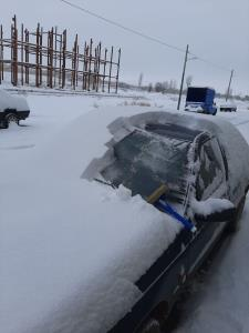 عکس/ میزان بارش برف در آذربایجانشرقی