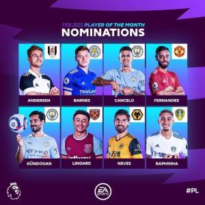 نامزدهای کسب عنوان بهترین بازیکن ماه جزیره