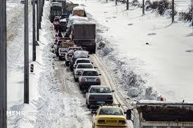 گرفتار شدن دهها خودرو در آزادراه تبریز به مرند