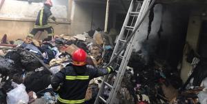 آتشسوزی در پاساژ ولیعصر پارسآباد مغان