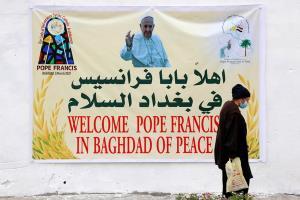 پاپ فرانسیس وارد بغداد شد