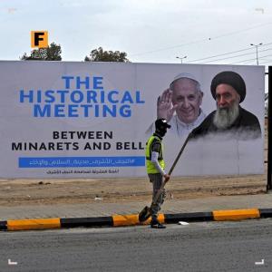 پاپ فرانسیس راهی عراق شد