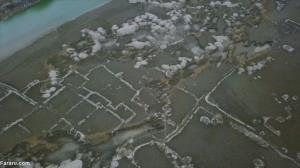 خارج شدن یک روستای قدیمی  از زیر آب