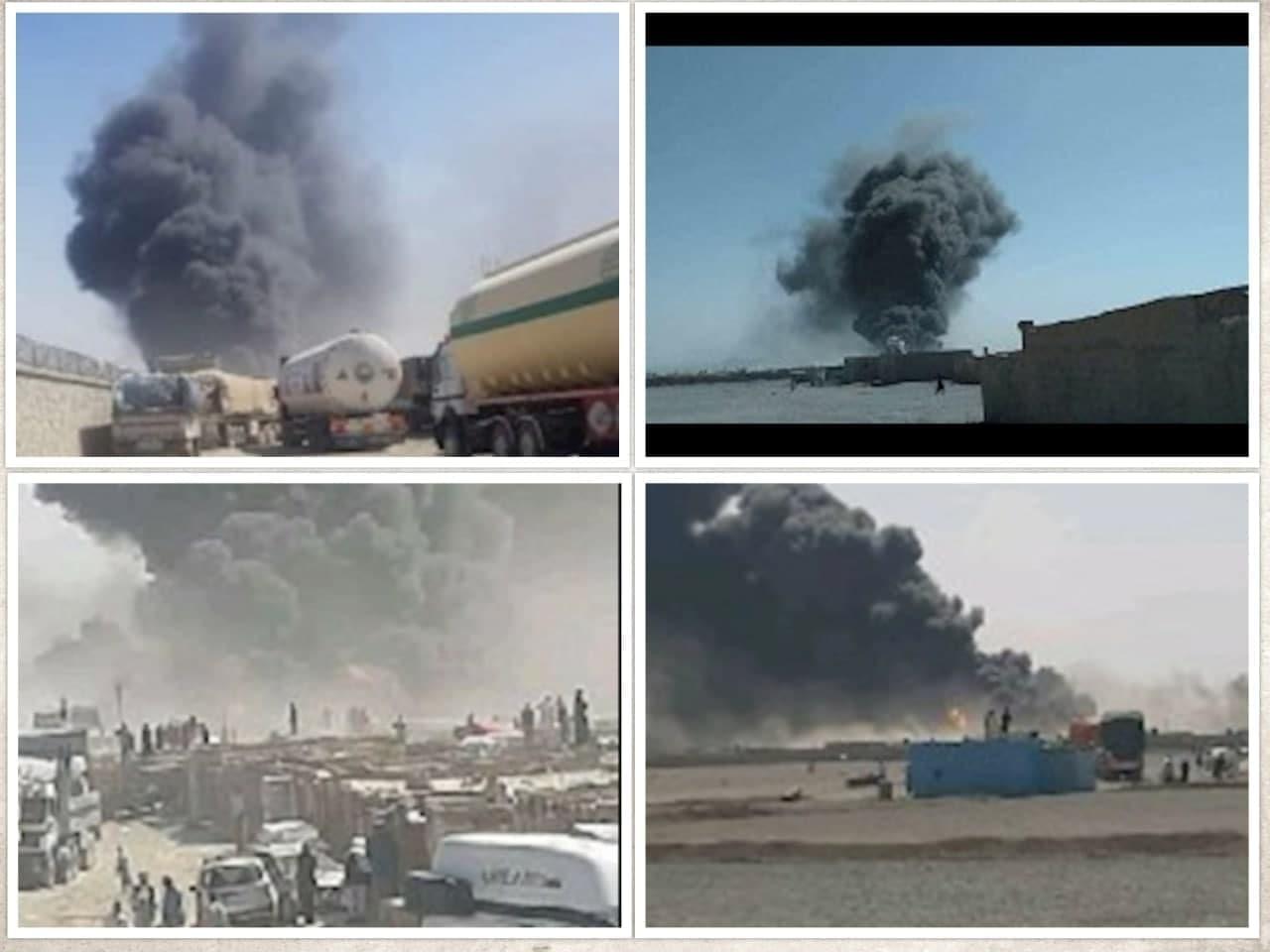 آتش سوزی در گمرک مرزی افغانستان با ایران