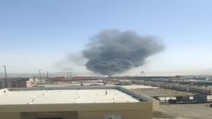 حادثه آتش سوزی در مرز ماهیرود