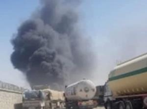 آتشسوزی در گمرک مرزی افغانستان با ایران