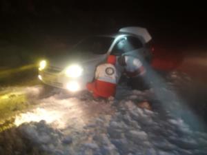 نجات ۱۱ مسافر گرفتار در کولاک شهمیرزاد
