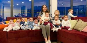 مادر ۲۳ ساله روس با ۱۱ فرزند که بچه های بیشتری می خواهد!