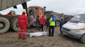 مرگ دلخراش راننده کامیون دور میل گاردان