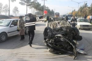 تصادف مرگبار در برخورد پژو 405 با یک عابر پیاده