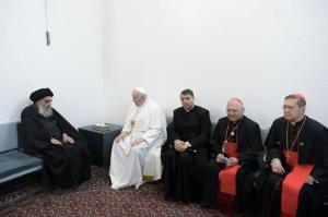 ادعای الحره: آیت الله سیستانی برای دیدار با پاپ شرط گذاشت