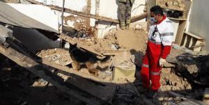 ریزش مرگبار آوار در یک ساختمان